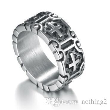 ювелирные кольца для мужчин Jesus из нержавеющей стали креста классических колец оптовых горячий способ свободными перевозкы груз