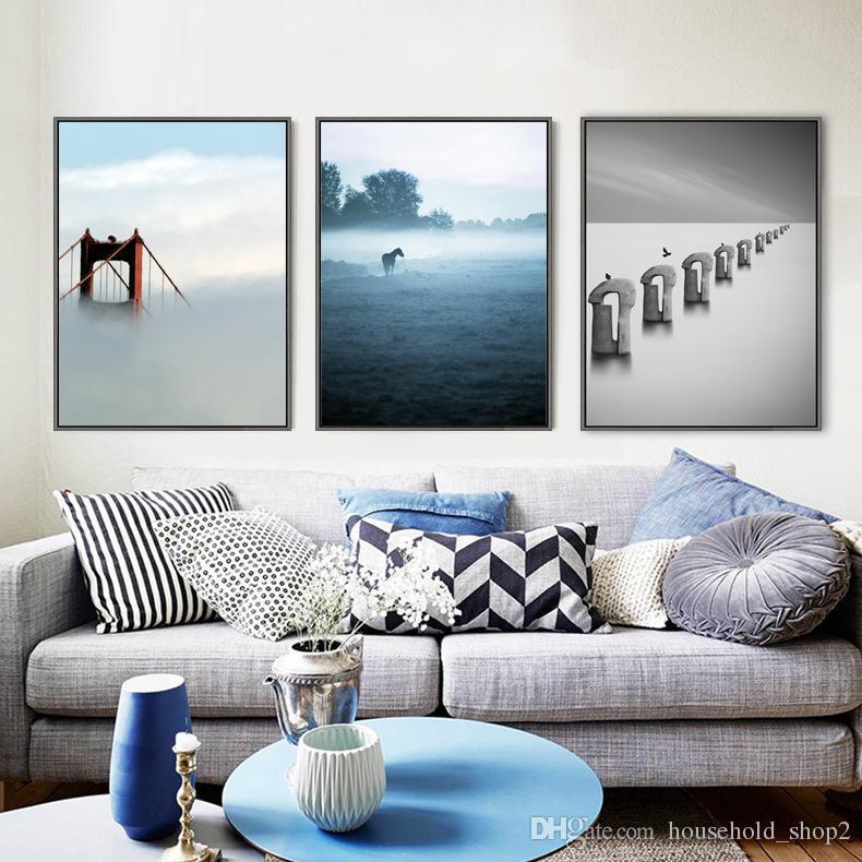 Großhandel 2018 Nordische Einfache Wandkunst Leinwand Gemälde Hause  Wandbilder Für Wohnzimmer Schlafzimmer Dekoration Malerei Von  Household_shop2, ...