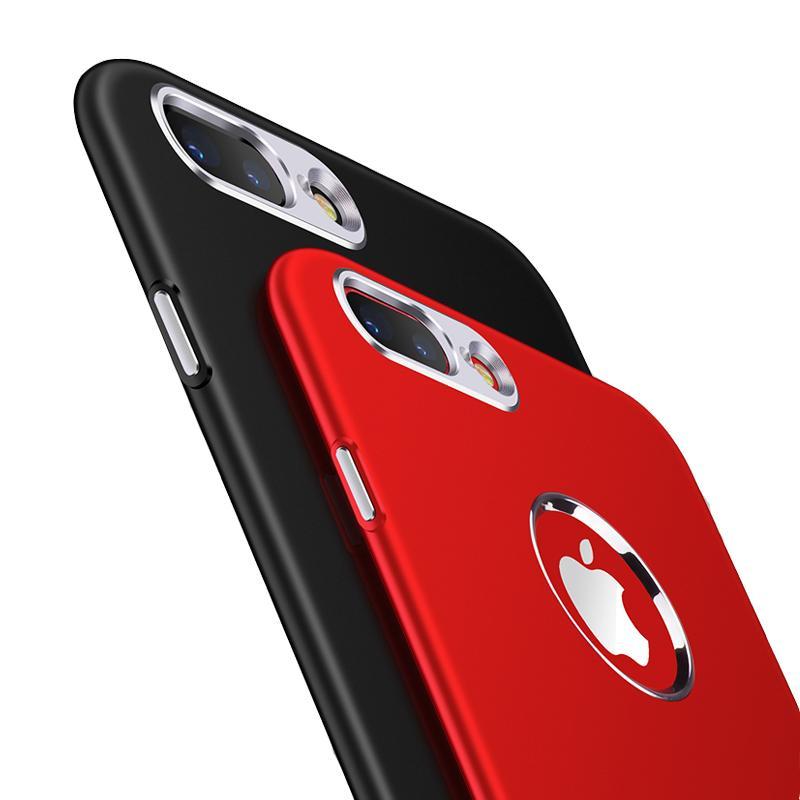 Lujo suave TPU + caja de metal para iPhone 6 casos 6S 8 Plus 5 5S SE contraportada para iPhone X caso Cubiertas de teléfono para iPhone 7 caso