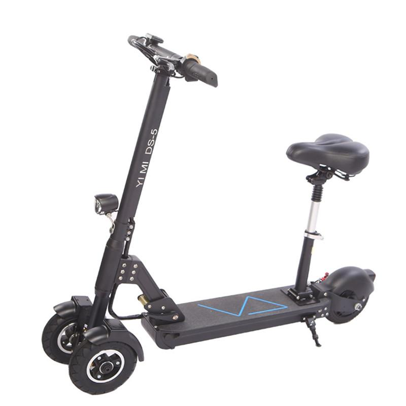 3 Wheel Scooter For Adults >> 3 Wheel Electric Scooter With Seat Electric Scooters 8 Inch 400w 36v 500w 48v Folding Electric Skateboard For Adults Eletric Scooters Wholesale