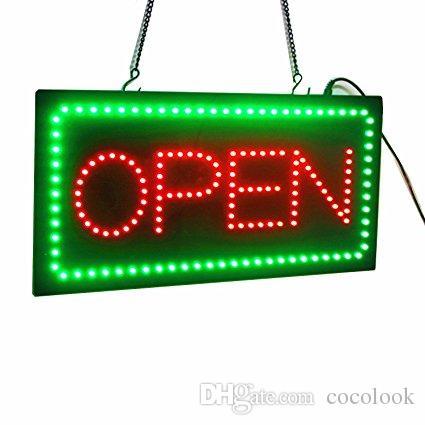 AÇIK Burcu, Kaydırma LED Neon Iş AÇIK Burcu Reklam Kurulu Elektrik Ekran Burcu, Iş için Yanıp Sönen Işık Iki Modu