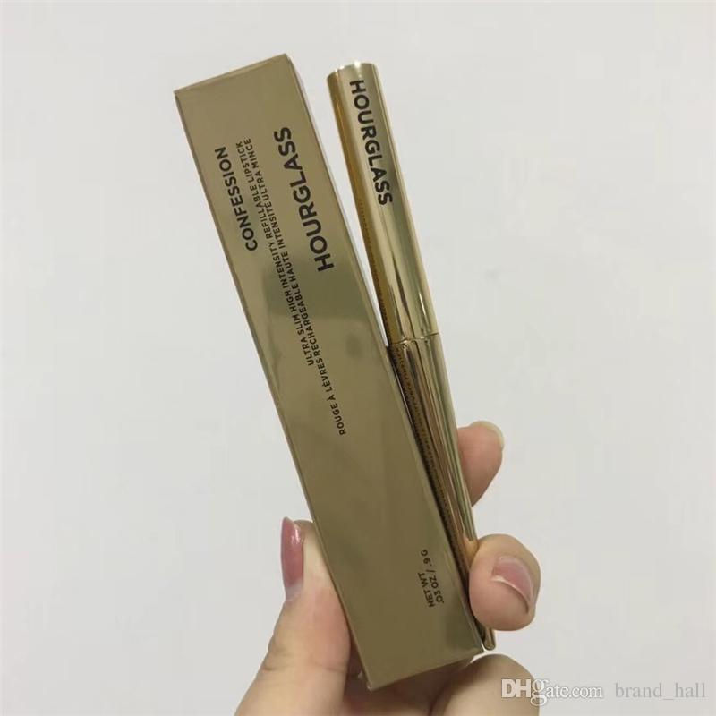 Kum saati Itirafı Ruj Altın tüp mat 6 renk ruj Ünlü marka