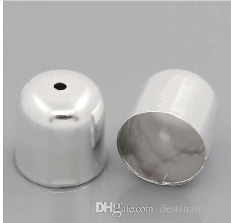 Doreen Kutusu Güzel Kolye Sonu İpucu Boncuk Gümüş renk 12x12mm Caps, 100 Adet (B24951)