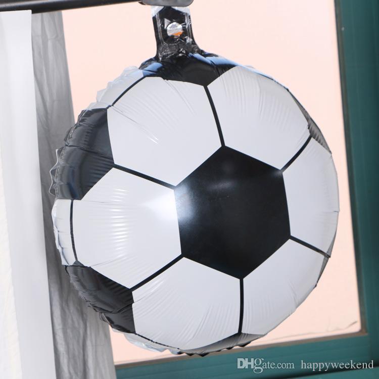 Chaude Football / Ballons En Aluminium DIY Anniversaire Baby Shower Barre De Jour Des Enfants KTV Décoration Coupe Du Monde Thème Fournitures De Fête