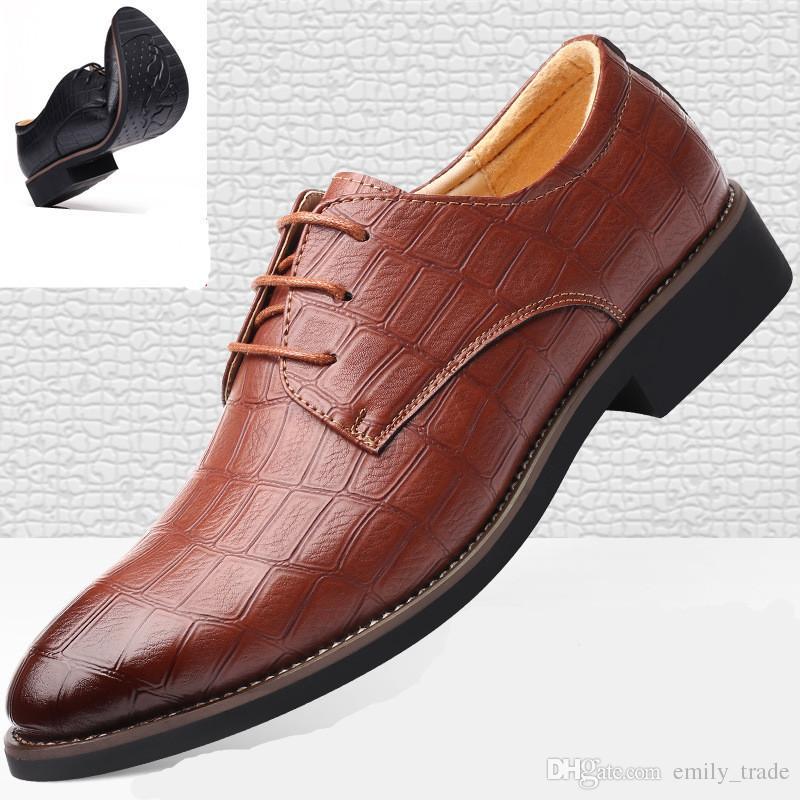 Scarpe da uomo di lusso casual moda in pelle trendy nero blu marrone scarpe basse per gli uomini drop business vestito casual