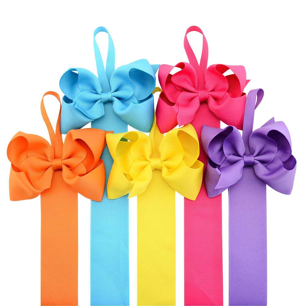 2pc Girls Hair Bow Grosgrain Ribbon Baby Hair Clip Holder Storage Organizer