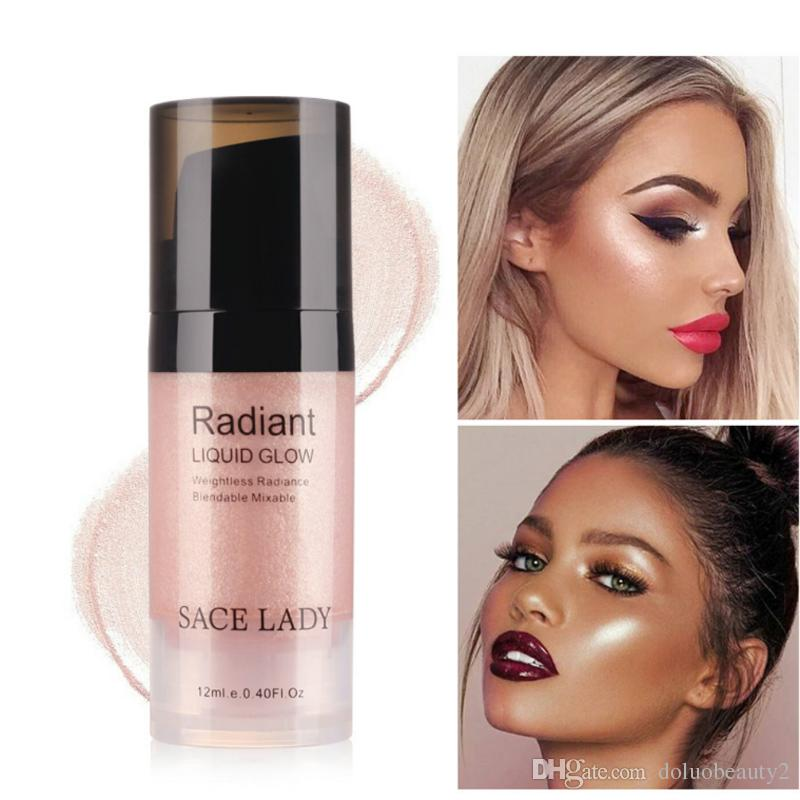 Sace Lady Hot sell Illuminator Makeup Highlighter Cream Face Brighten Professional Shimmer Make Up Liquid Glow Beauty Brand Cosmetic