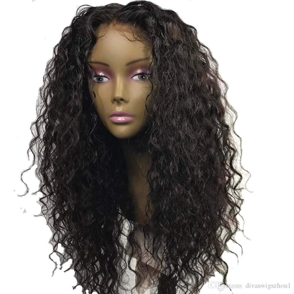 Peluca rizada rizada rizada rizada rizada rizada rizada rizada rizada del pelo humano del cordón 360 del cordón del pelo virginal peruano del cordón de la peluca con el pelo del bebé