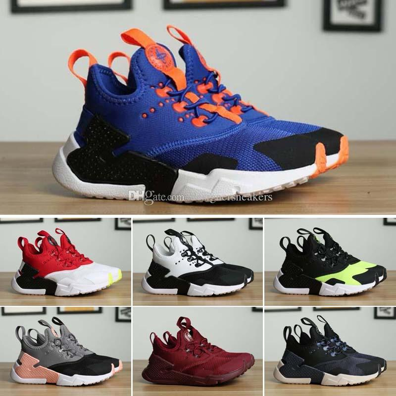 promo code 518d9 4c104 Top Quality 2018 New Human Race Kids Huarache 2.0 Drift BR Wallace 6 Run  Shoes Boys Girls Sneakers Originals Classic Casual Shoes Kids White  Sneakers ...