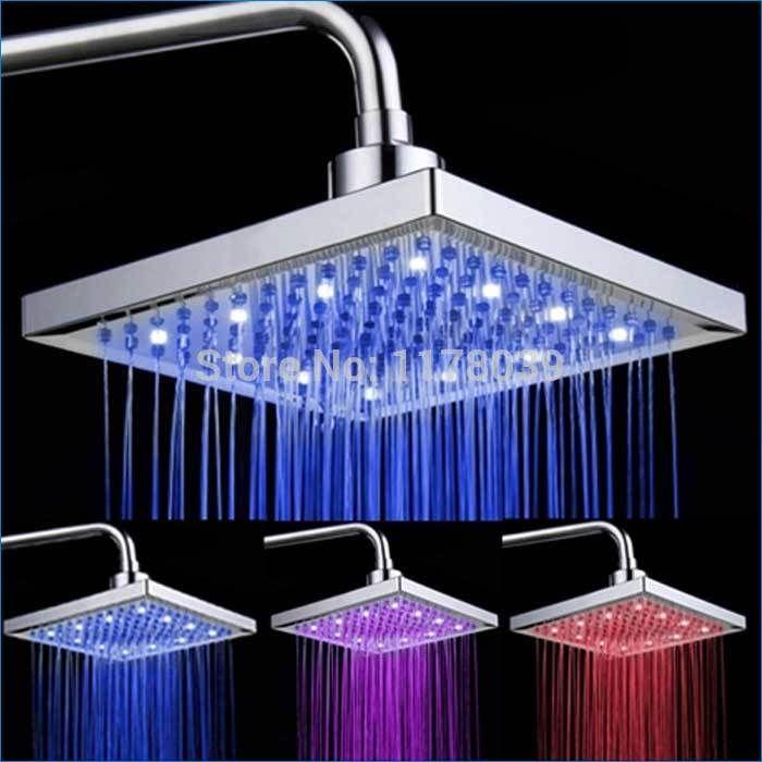 LED-Duschkopf 8 Zoll, regen Duschkopf, Bunte Selbst Farbe, Regenköpfe, freies Verschiffen J14215