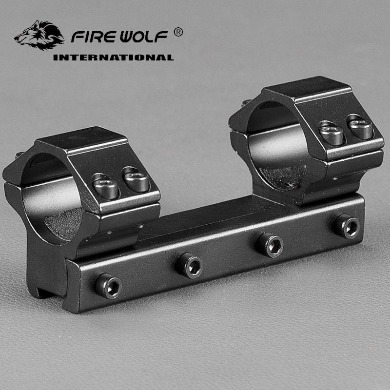 Aleación de aluminio de metal bajo 25.4mm / 1 '' Anillo doble Rifle Scope Ring Mount para 11mm Cola de milano Rail 100mm de longitud