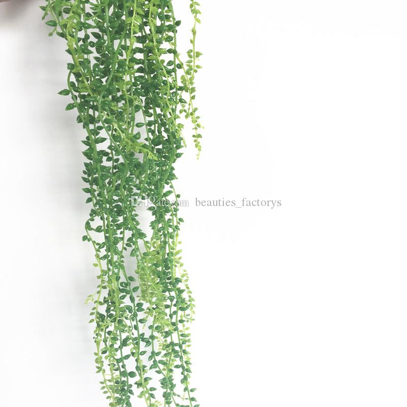 Artificial String of Pearls Hanging Beads Lover Tears Green Wall Hanging Vine Home Garland Decoration Plant