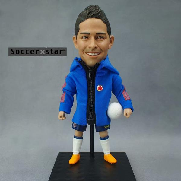 1Pcs-Football-star-Soccer-Star-Figures-Colombia-10-JAMES-12cm-5in-Height-Action-Dolls-Figurine_