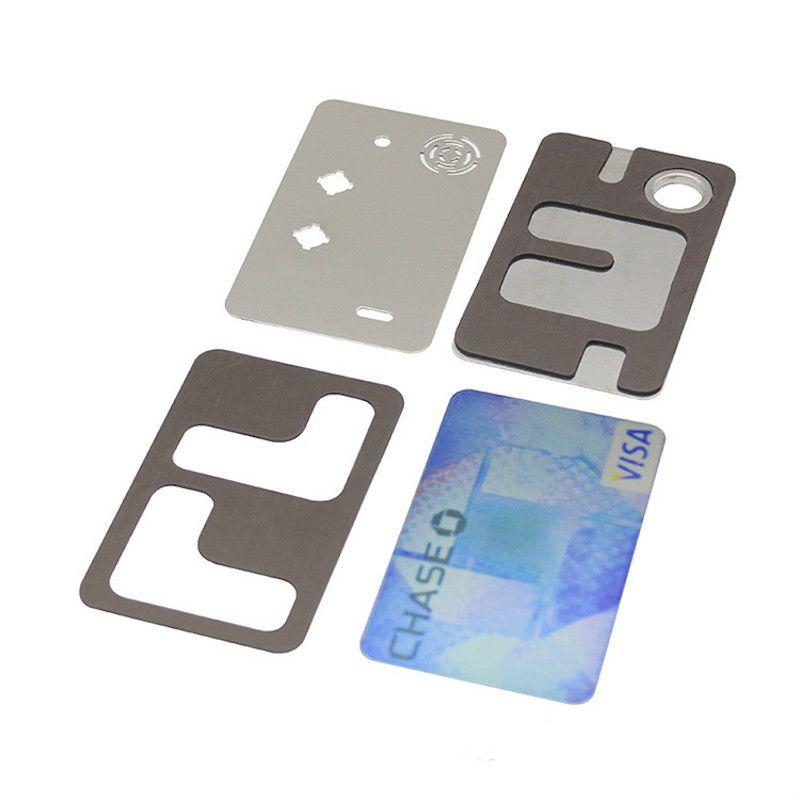Tuyau de fumer en métal de haute qualité Pipe de carte de crédit pour les herbes Tuyau de tabac pour les accessoires de fumer Livraison gratuite