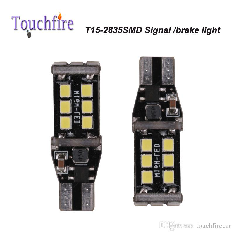 10pcs T15 LED 2835smd 15smd 880LM Bulb Tube Auto Wedge Car lights AC 12v Width Interior Signal Brake Lighting Car