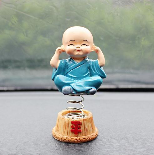 Car Interior Decoration Cute Lovely Buddha Dolls China Toy four don't Monk Resin 2 Set
