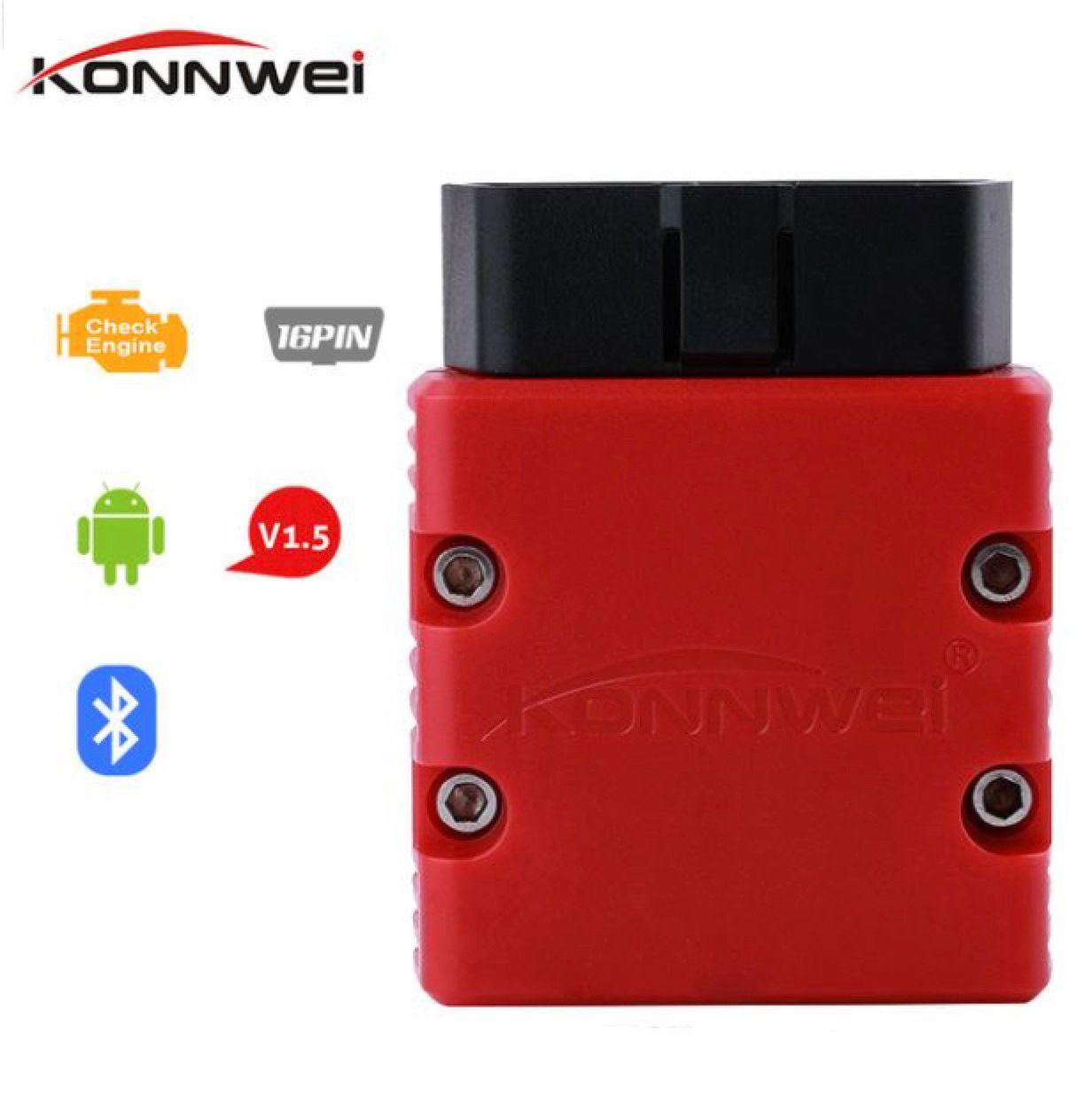 Konnwei KW902 ELM327 OBD2 EML327 V1.5 بلوتوث 3.0 واي فاي محول السيارات تشخيص الماسح الضوئي ل Android / PC OBDII Automotive Scanner