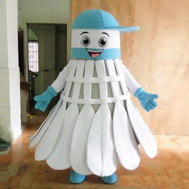 2018 Fabrika doğrudan satış EVA Malzeme Kask Üç tarzı badminton Maskot Kostümleri Karikatür Giyim Doğum Günü partisi