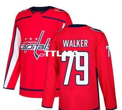 Real Men real Full embroidery 2017-18 New Season Washington Capitals 79 Nathan Walker Hockey Jersey or custom any name or number Jersey