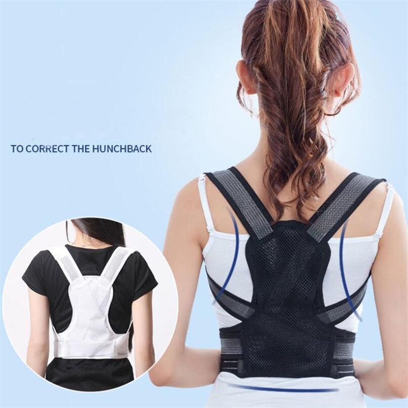 Corset Colonne vertébrale Corset Arrière Ceinture Orthèses Support dorsal Support dorsal ajustable Correcteur de posture
