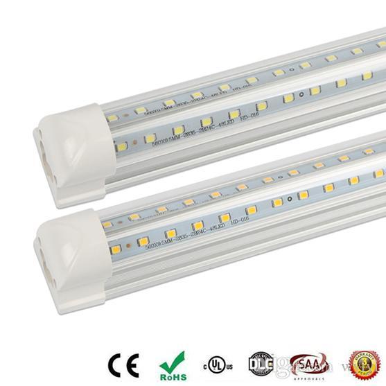 주도 튜브 T8 통합 4 피트 3 피트 5피트 V - 모양의 주도 튜브 더블 사이드 SMD2835 LED 형광 빛 85-265V 높은 밝기