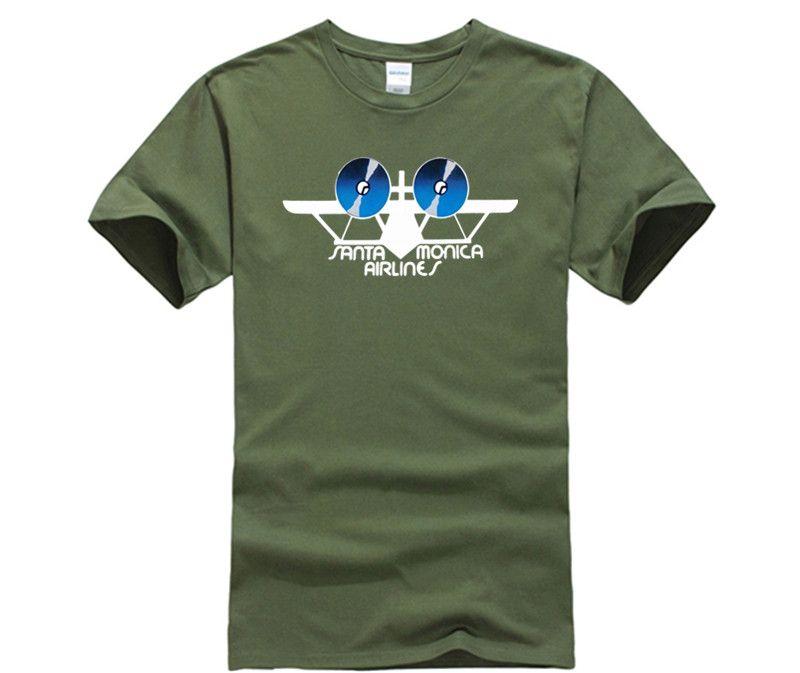 SMA Santa Monica Airlines Tshirt Vintage Gift For Men Women Funny Tee