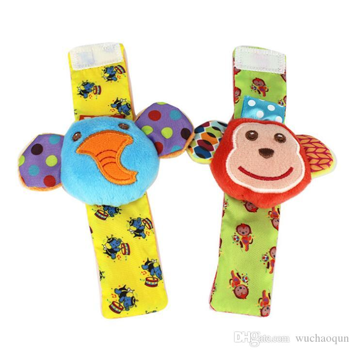 2019 babys toy New arrival sozzy Wrist rattle & foot finder Baby toys Baby Rattle Socks Lamaze Plush Wrist Rattle+Foot baby Socks