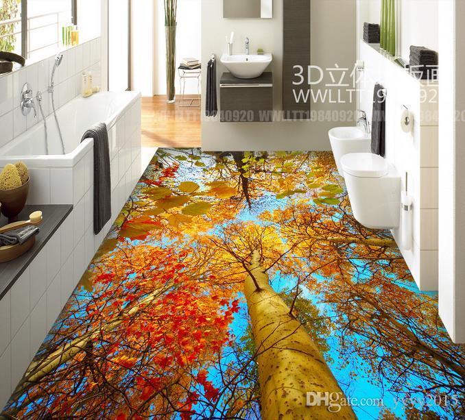 3d Floor Covering Autumn Trees Woods 3d Floor To Floor Painted