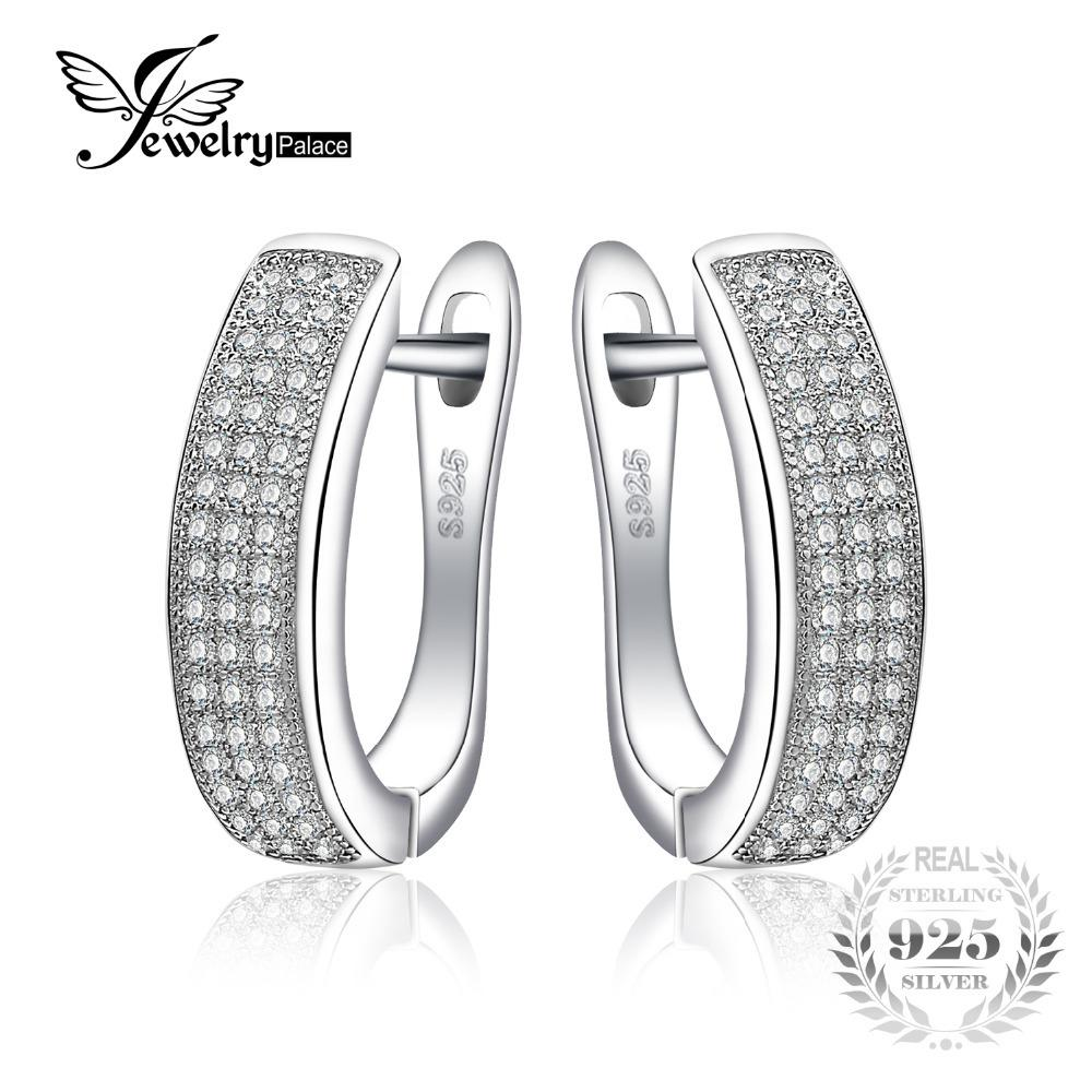 Jewelrypalace 0.5ct yıldönümü kanal seti sonsuzluk klip küpe gerçek 925 ayar gümüş takı on sale üzerinde kadınlar için y1882503
