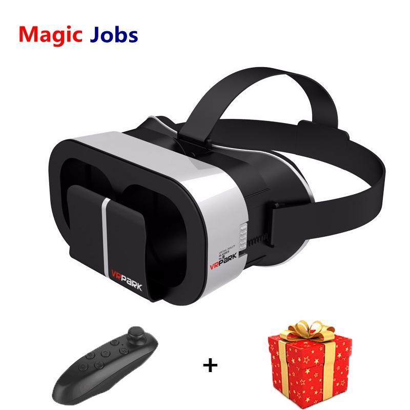 Magic_jobs Inteligente Casque Gerceklik Realidade Virtual Óculos Óculos 3D 3 D Caixa VR fone de Ouvido Capacete Para Smartphone Google Papelão Lense
