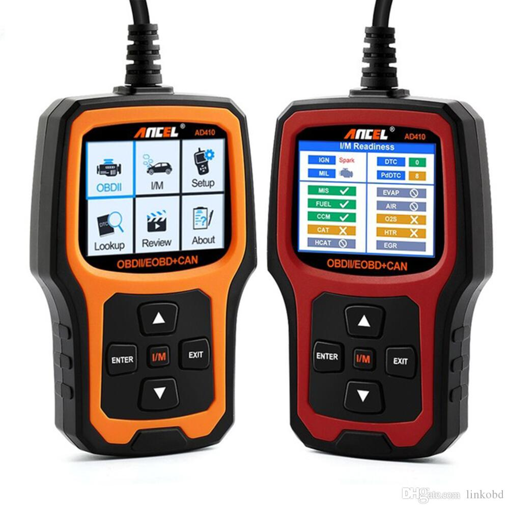 AD410 Car Diagnostic Tool OBD2 OBDII Automotive Scanner Engine Fault Code Reader Scan Tools Supports Multi-languages