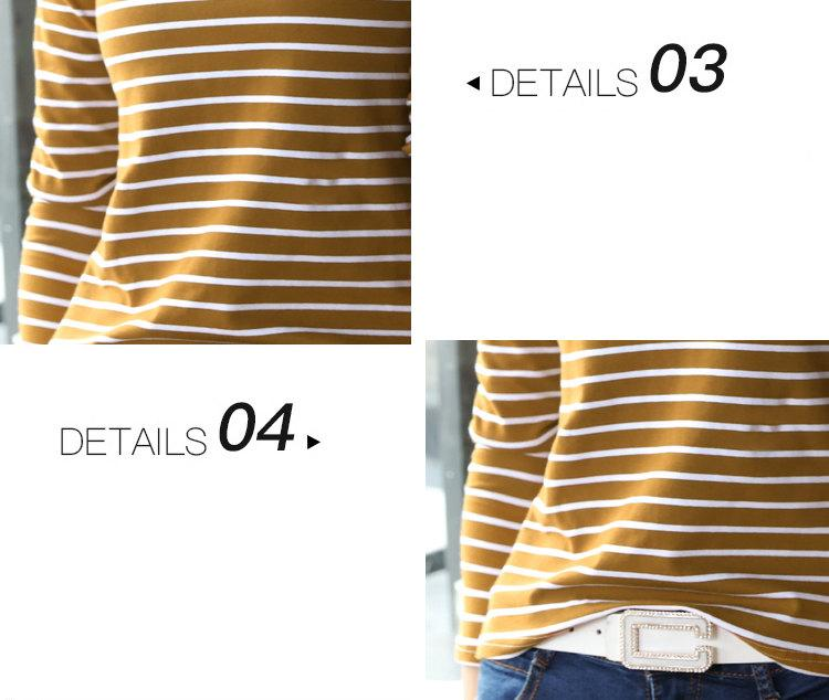 Autumn Winter Striped T-shirt Women Casual Plus Size Tops Tees Femme Long Sleeve Women Cotton Tshirt Camisetas Mujer 2019 (13)