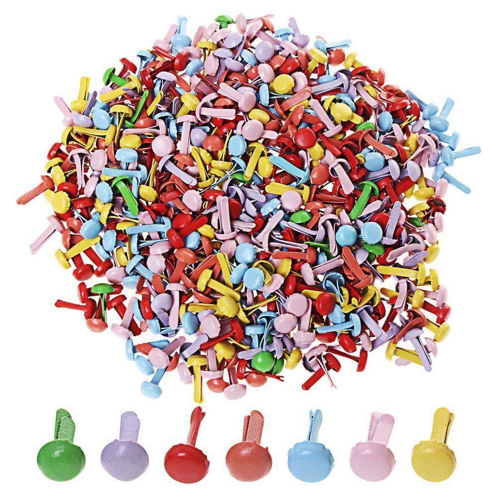اللون مقص 2000 أجزاء البسيطة المشابك جولة المعادن ورقة السحابات المشابك لسكرابوكينغ الحرف diy ، اللون متنوعة