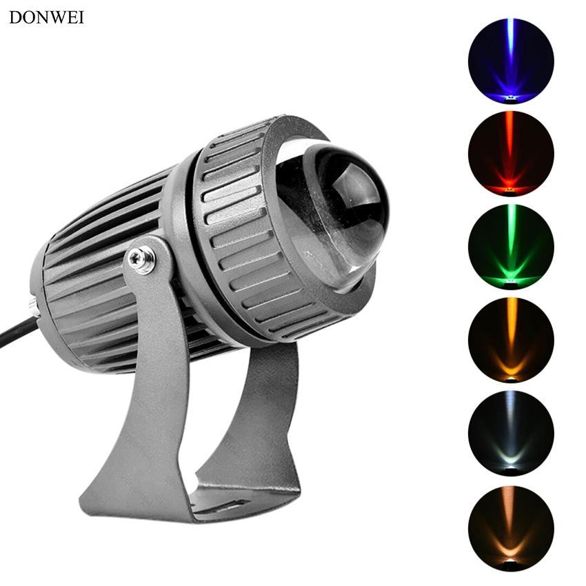 DONWEI 3W COB LED مصباح الجدار الأضواء في الهواء الطلق للماء IP65 الألومنيوم مصباح الجدار العارض لبناء ساحة بارك
