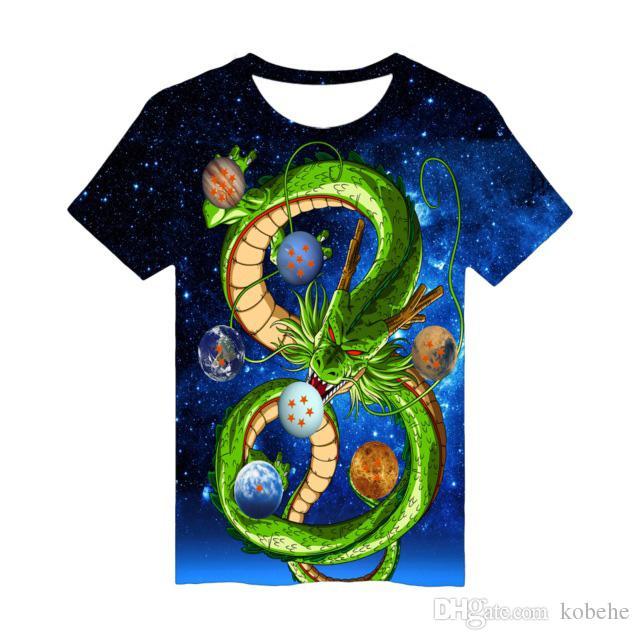 K-Pop T-Shirt 3D-Druck Sieben Dragon Ball Fans Frauen Kurz T-Shirt Herren Sommer Casual Beliebte Idol Tops Shirt