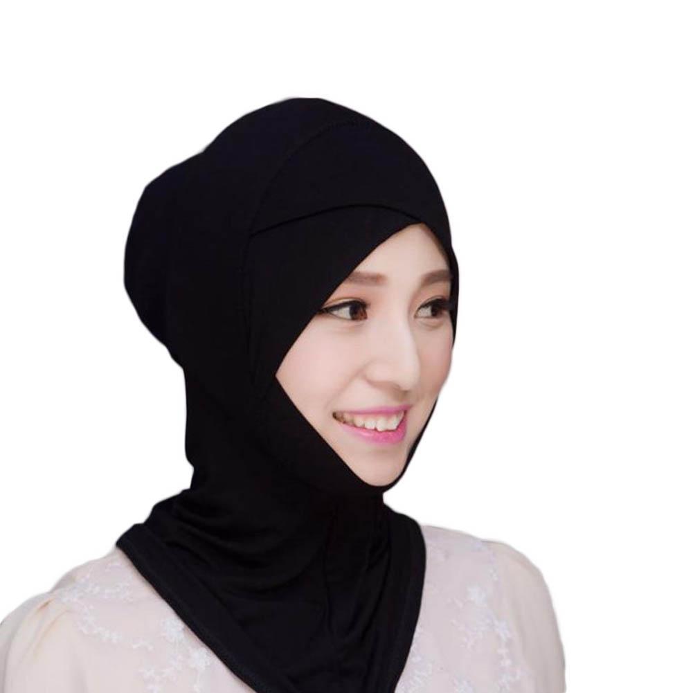 Muslim Headscarf Inner Hat Bonnet Cap Underscarf Hijab Scarf Cover Abaya Turban Headgear Hooded Instant Arab Islamic