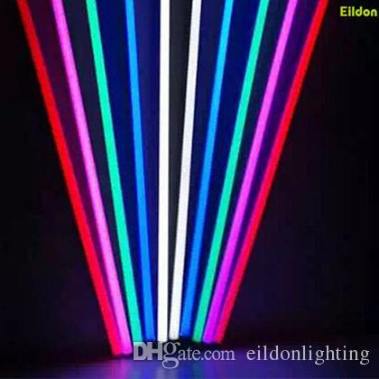 T8 T5 색 LED 튜브 조명 4피트 3피트 2피트 AC220-240V 2835SMD G13 통합 빨간색 녹색 파란색 노란색 2835SMD 선형 램프 직접 중국 심천
