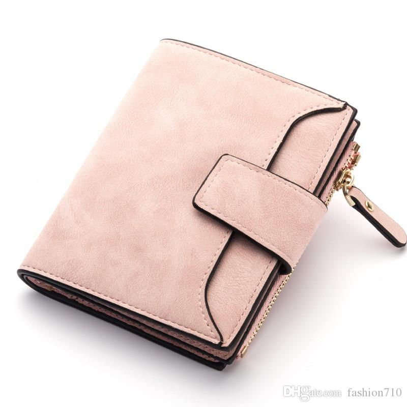 Ladies Luxury Soft Genuine Leather Tri Fold Purse Wallet Zipped Coin Holder