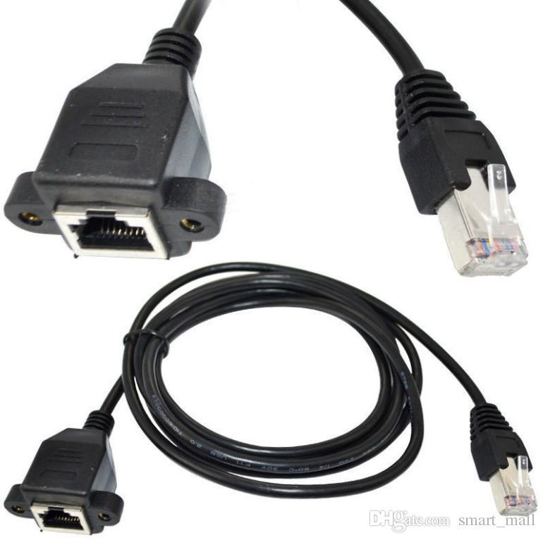 30cm 60cm 100cm Support de panneau à vis RJ45 Cat5 mâle à femelle Ethernet LAN Extension de réseau Câble avec vis LLFA
