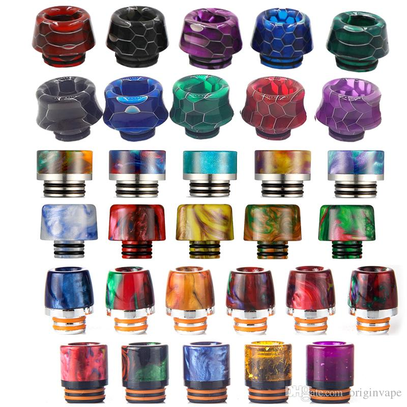 IN STOCK!!! 810 510 Resin Drip Tips Epoxy Mouthpeice Wire Bore Suck Tip for TFV12 Prince and TFV8 X Big Baby Crown Atomizer