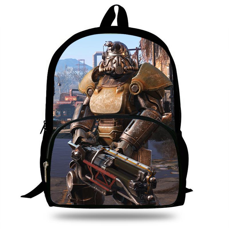 Neuheiten Fallout 4 Spiel Rucksack Für Kinder Schultaschen Jungen Mädchen Mochila Rucksack Laptop Student Große Kapazität taschen