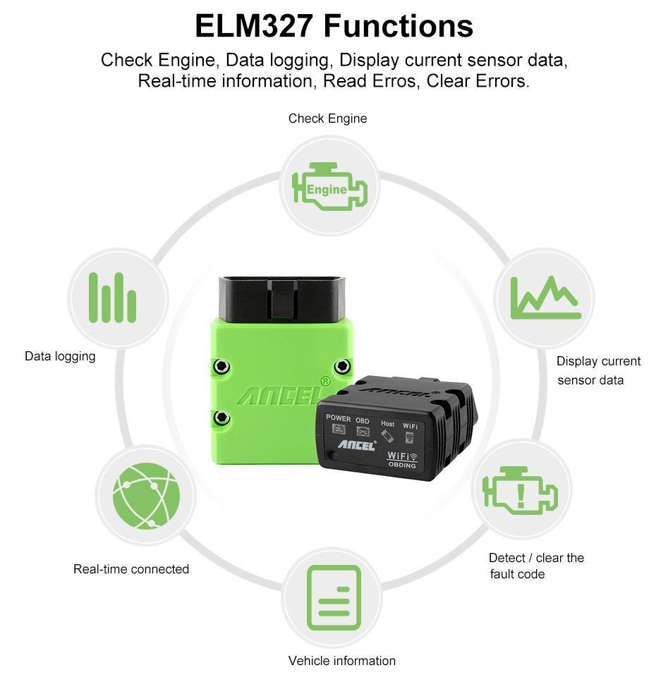 Ancel ELM 327 WI-FI 1.5 ELM327 V1.5 OBD2 OBD ODB 2_04