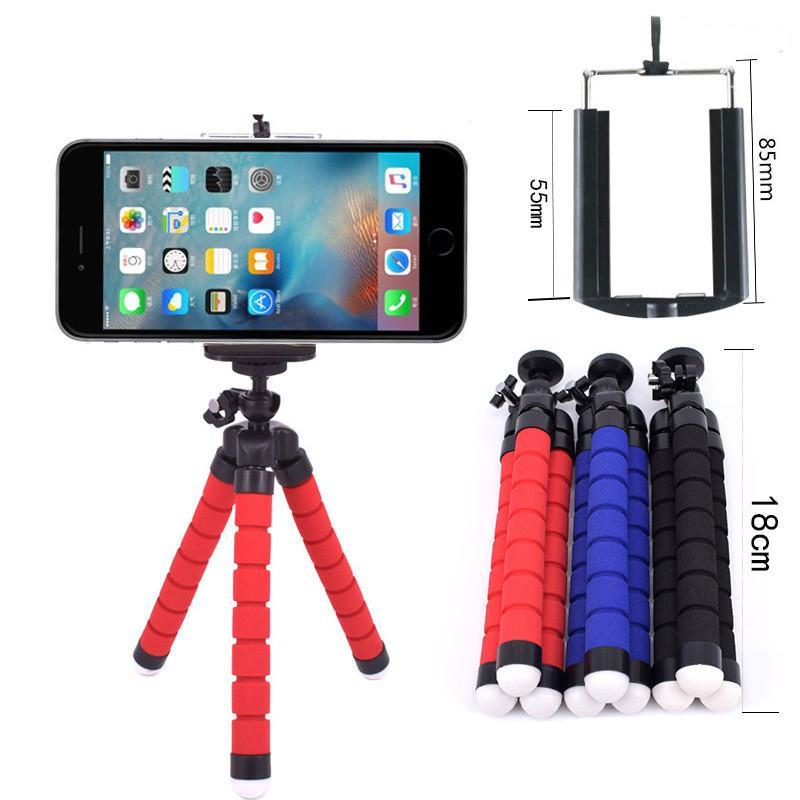 Car Phone Holder Flexible Octopus Sponge Tripod Bracket Selfie Stand Mount Monopod Camera DV Holder For iphone X XS max XR Selfie Clip