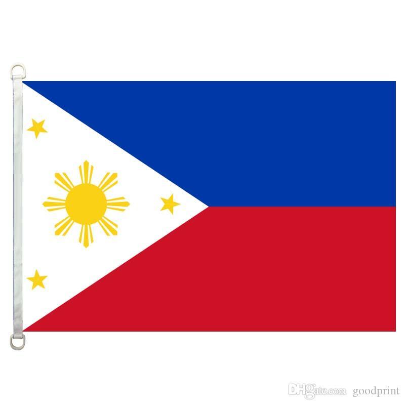 Le drapeau des Philippines bannière 3X5FT-90x150cm 100% polyester, 110gsm drapeau extérieur