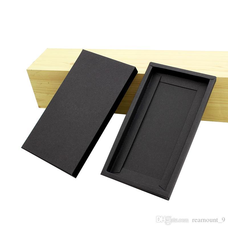 100 pcs populaire de qualité supérieure dur Boîte de papier pour le téléphone cas Kraft papier d'emballage pour Universal Mobile Phone Cover Avec Livraison gratuite