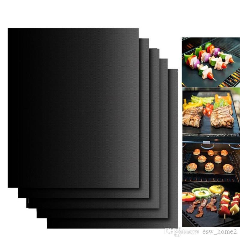Thick ptfe Barbecue Grill Matte 30 * 40 cm non-stick Wiederverwendbare backen BBQ Grill Matten Blatt Grillfolie BBQ Liner Bbq-werkzeuge