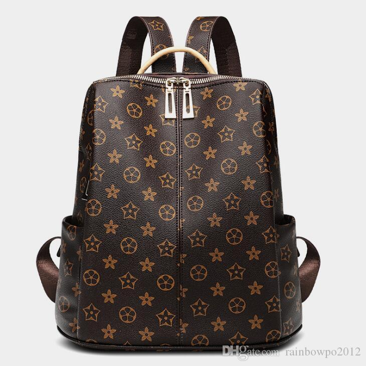 Direct brand women bag classic printed women backpack new bubble print leather fashion anti-theft backpack large-capacity Mummy bag