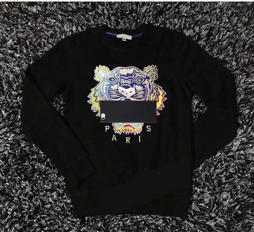 KO Marka Hoodie Tişörtü Erkekler Kaplan Kafası Işlemeli Kadın Sonbahar Kış Tasarımcı Hoodies Casual Streetwear Jogger Giyim