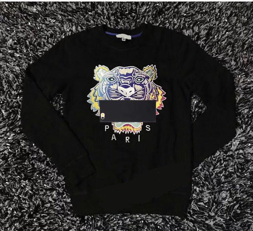 KO 브랜드 까마귀 스웨터 남성 타이거 헤드 수 놓은 여자 가을 겨울 디자이너 후드 캐주얼 Streetwear 조깅 의류