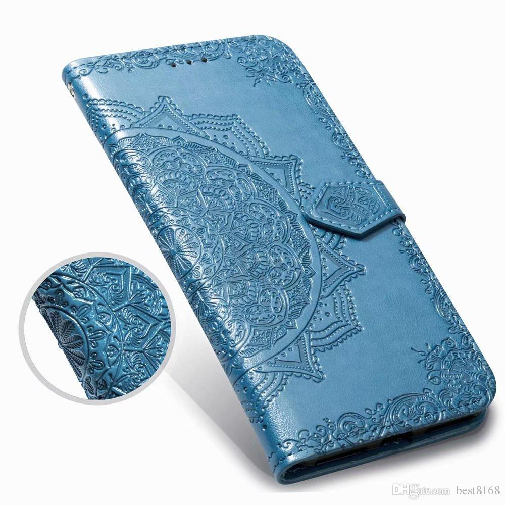 For LG Stylo 4 Stylo4 LV3 LV5 G7 K10 Q7 2018 X Power 2 Imprint Wallet Leather Cases Lace Flower Datura PU Card Luxury Phone Pouch Flip Cover